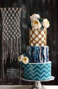 Something blue - Cake by Jessica MV