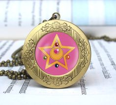 sailor moon crystal star locket anime vintage by yuphotojewelry, $11.88