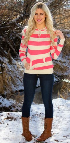 @Heather Blake   The Striped Hoodie | SexyModest Boutique