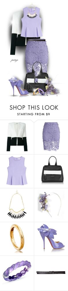 """Lace and Stuff"" by rockreborn ❤ liked on Polyvore featuring Thierry Mugler, Chicwish, Diane Von Furstenberg, Givenchy, Astley Clarke, Christian Louboutin, Simone I. Smith, Maison Boinet and Boohoo"