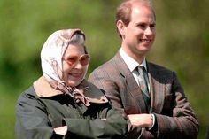 THE MOTHER H.M. Queen Elizabeth II of Great Britain and H.R.H. Prince Edward Count of Wessex