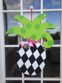 pineapple door hanger, summer