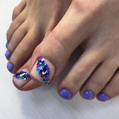 Zehennageldesign Summer Toe Nail Designs With Sequins ❤Over 50 Incredible Toe Nail Designs for Your Pretty Toe Nails, Cute Toe Nails, Diy Nails, Gel Toe Nails, Gel Toes, Bling Nails, Toe Nail Color, Toe Nail Art, Nail Colors