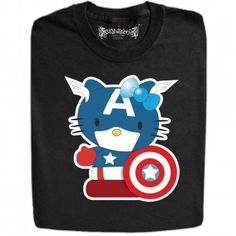 Captain Kitty Funny Design T Shirts And Hoodies