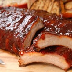 Slow Cooker Barbeque Ribs Recipe with Homemade Sauce Bbq Ribs In Oven, Slow Cooker Barbecue Ribs, Baked Bbq Ribs, Barbecued Ribs, Baked Ham, Costillitas Bbq, Honey Barbecue Sauce, Barbecue Recipes, Rib Recipes