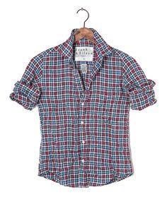 Womens Barry Linen Checker Shirt