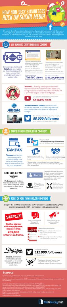 How Non-Sexy Businesses Rock on Social Media #SocialMedia #Business #infographic