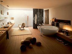 "bathtub ""Axor Maussaud"" & sink ""Axor Maussaud"" by hansgrohe #badewanne #waschbecken"