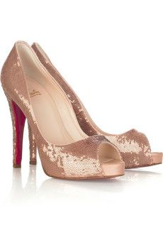 louboutin... rose gold... sequins... IN LOVE
