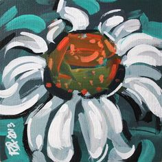 """Flower Abstraction 4"" - Original Fine Art for Sale - © Roger Akesson"