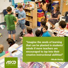 Micah Herzig explores how to nurture teacher creativity in this Inservice post.