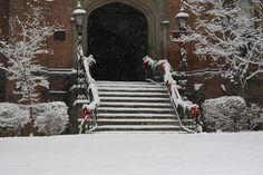 Old Main in the Snow at Bethany College