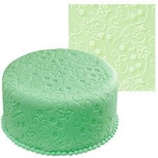 Give your fondant cake an exciting new texture with this easy to use imprint mat. Just smooth your rolled fondant over the mat, place on your cake and peel back Wilton Fondant, Wilton Cakes, Fondant Toppers, Cake Supplies, Cake Decorating Supplies, Baking Supplies, Cake Craft Shop, Cake Pops, Cake Decorating With Fondant