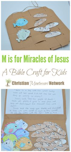 M is for Miracles of Jesus - Christian Montessori Network - M is for Miracles of Jesus, an ABCs of the Bible Crafts for Kids. You are in the right place about d -