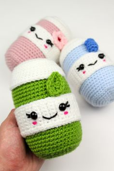 Make your very own cute matcha latte for fall and every season! Get started with amigurumi with this crochet drink including matcha, blueberry, and sakura. Create your own cute pumpkin spice with this easy and unique crochet pattern. Cute and kawaii, this basic and beginner friendly DIY project is perfect for any crocheter that loves warm drinks. This stuffed animal amigurumi is perfect for home decor. Great project for the holidays! Stuffed animal plushie that can be made quickly.