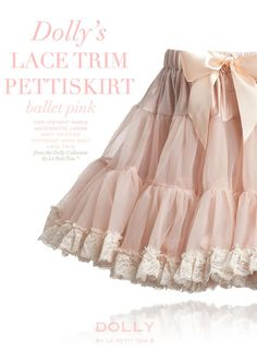 DOLLY LACE TRIM PETTISKIRT ballet pink