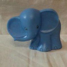 ЖМИ!!! Игрушка СССР. Слон, пластик. 7 см