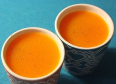 Crema fría de calabaza y naranja Creme, Pudding, Tableware, Desserts, Primers, Suddenly, Soups, Gastronomia, Butternut Squash Soup