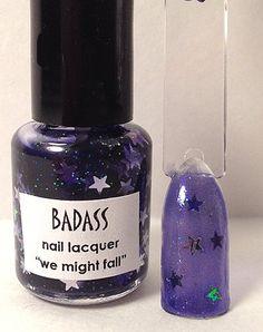 Badass Nail lacquer  We Might Fall Nail Polish  #nails #nailpolish #indie #polish #manicure #lacquer #trends #beauty