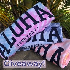 Aloha Everday Tie Dye Tee Giveaway on Instagram. @luckypennyhawaii #sharealoha Lucky Penny, Giveaway, Hawaii, Shop Now, Tie Dye, Tees, Instagram, Fashion, Moda