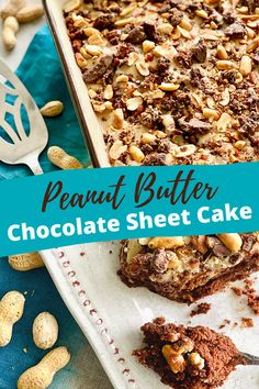 Wouldn't you love a slice of Peanut Butter Chocolate Cake right now? It's packed with salted peanuts, chocolate, and Reese cup candy! #peanutbutter #chocolatecake | QuicheMyGrits.com Best Cake Recipes, Cupcake Recipes, Baking Recipes, Sweet Recipes, Cupcake Cakes, Dessert Recipes, Peanut Butter Icing, Chocolate Peanut Butter Cups, Creamy Peanut Butter