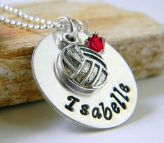 Hey, I found this really awesome Etsy listing at https://www.etsy.com/listing/210286256/personalized-volleyball-necklace
