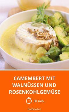 Camembert mit Walnüssen und Rosenkohlgemüse - smarter - Zeit: 30 Min.   eatsmarter.de