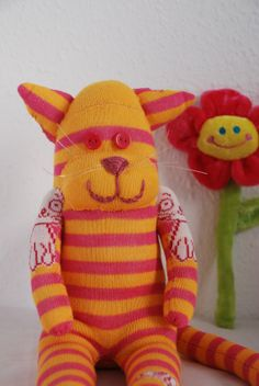Hey, I found this really awesome Etsy listing at https://www.etsy.com/listing/159185927/sock-tiger-stuffed-animal-pink-and