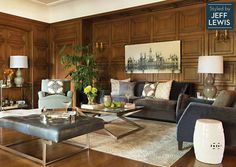 Living Spaces: Stay Late Styled by Jeff Lewis: replace print with James Way canvas