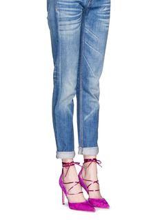 54bc5c3e3e259 SAM EDELMAN  Dayna  suede lace-up pumps Shoes Online