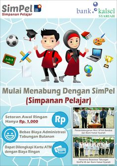 Poster design for student saving product of Bank Kalsel Syariah