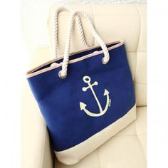 anchor bags for sailorwomen lol Laid Back Style, My Style, Anchor Print, Blue Canvas, Dress Me Up, Handbag Accessories, Spring Summer Fashion, Gym Bag, Anchors