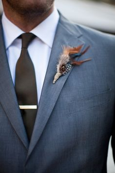 Like the suit color-fall boutonniere // photo by Meg Ruth Woodsy Wedding, Wedding Bells, Fall Wedding, Diy Wedding, Dream Wedding, Wedding Ideas, Wedding Flowers, Burgundy Wedding, Wedding Men