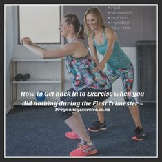 Pregnancy EXercise - How to get back in to exercise when you didn't exercise during the first trimester