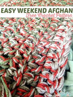 Easy Crochet Afghans Free Crochet Pattern - Weekend Afghan - Easy Weekend Afghan Free Crochet Pattern made with a stitch to create and open weave and soft blanket to enjoy year round. Crochet Baby Shoes, Love Crochet, Easy Crochet, Crochet Hooks, Knit Crochet, Chunky Crochet, Double Crochet, Single Crochet, Crochet Afghans
