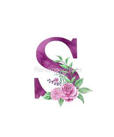 'Monogram S Lovely Rose Bouquet' Photographic Print by floralmonogram Alphabet Letters Design, S Alphabet, Monogram Letters, Letter Art, Monogram Wallpaper, Alphabet Wallpaper, Monogram Design, Lettering Design, S Love Images