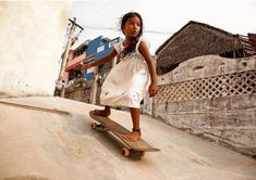 This picture of a girl in India is my new favorite skate shot. Tony Hawk (via Tony Hawk, A Well Traveled Woman, Streetwear, Bollywood, Skate Surf, Skater Girls, Girl Names, Girl Power, Little Girls
