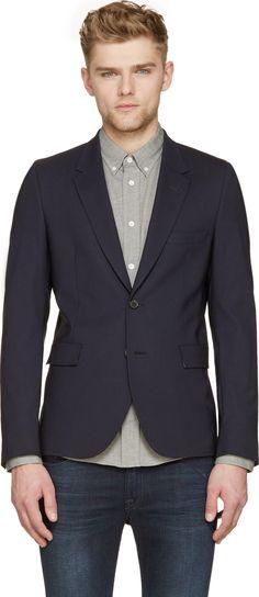 Paul Smith - Navy Classic Wool Blazer