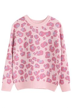 The sweater featuring leopard print detailing. Cozy up to the comfiest of women's clothing-sweaters! Warm Sweaters, Sweaters For Women, Leopard Sweater, Sweater Outfits, Cardigans, Favorite Recipes, Women's Fashion, Clothes For Women, Knitting