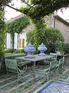 La Carmejane, Luberon, Provence ~ Terrace of the Maison des Amis