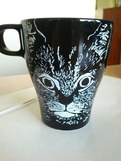 Cat cup sharpie