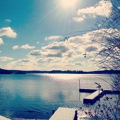 Winter on Lake Pocotopaug, East Hampton, #Connecticut. Photo courtesy of @mvonstank  #snowinct #winterinct #connecticutgram #newengland