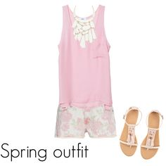 spring outfit, created by Julia Preston