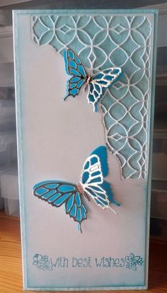 images about Die cut cards Birthday Cards For Women, Handmade Birthday Cards, Greeting Cards Handmade, Butterfly Cards Handmade, Memory Box Cards, Memory Box Dies, Pretty Cards, Card Tags, Creative Cards
