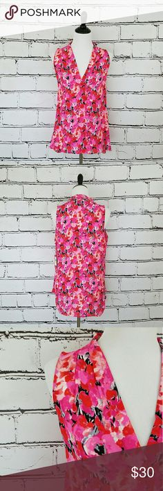 Vince Camuto Floral Tank! Pink, red and black floral tank top. Loose fitting and flowy. Slight high-low style. Length is about 26 inches in the front and about 30 inches in the back. Armpit to armpit is about 20 inches. Brand new with tags! Vince Camuto Tops Tank Tops