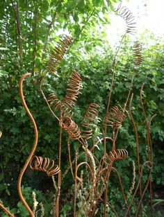 .ψ.Ψψψ.. Sculpture by Anne Roberts of Fenton Roberts Garden Design