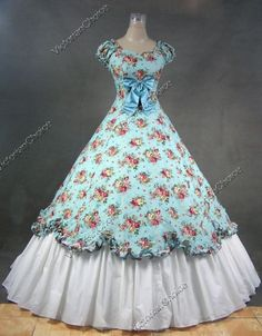 Civil War Ball Gown costume NOT original. I might try something like this with some of the short lengths of donated fabric. #a stitch in time ideas for rosalie