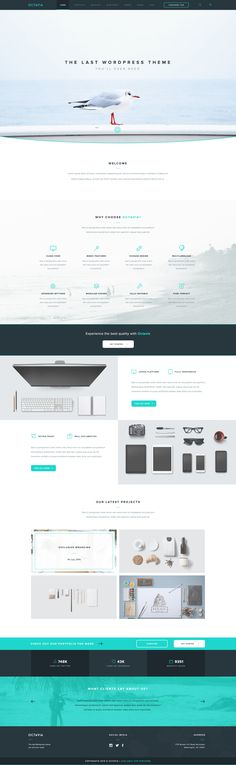 Octavia is a super clean and modern one page PSD template. You can use it for various personal or commercial projects. It's fully editable and easy to use (PSD file available). To unlock the download you have to include your email address. octavia_landing_page.jpg (1900×6162)