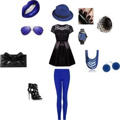 """""""I'm feeling a bit blue today... but it's okay because I look good."""" by theyoungmisfit on Polyvore"""