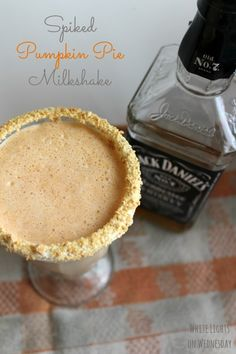 Spiked Pumpkin Pie Milkshake